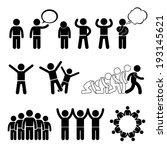 children action pose welfare... | Shutterstock .eps vector #193145621