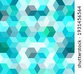 hexagon grid teal blue seamless ...