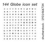 144 globe icon set vector   Shutterstock .eps vector #1931466734