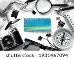 flag of aruba and travel...   Shutterstock . vector #1931467094