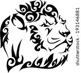 lion tattoos and designs. | Shutterstock .eps vector #193146881