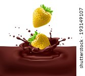 appetizing yellow strawberries... | Shutterstock .eps vector #193149107
