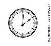 black clock with cutlery... | Shutterstock .eps vector #1931492297
