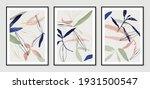 botanical wall art vector set.... | Shutterstock .eps vector #1931500547