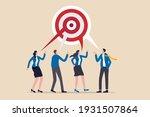 teamwork aiming on the same... | Shutterstock .eps vector #1931507864
