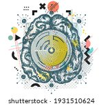 super brain and labyrinth.... | Shutterstock .eps vector #1931510624