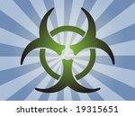 biohazard sign  warning alert... | Shutterstock .eps vector #19315651