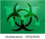 biohazard sign  warning alert... | Shutterstock .eps vector #19315654