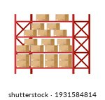 warehouse inventory with rack... | Shutterstock .eps vector #1931584814