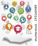 back to school info graphic set ... | Shutterstock .eps vector #193160489