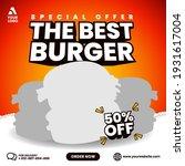 food menu and restaurant burger ... | Shutterstock .eps vector #1931617004
