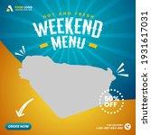 food menu and restaurant social ... | Shutterstock .eps vector #1931617031