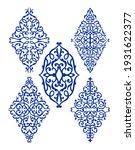 oriental rhombus ornaments ... | Shutterstock .eps vector #1931622377