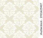 damask seamless vector pattern. ...   Shutterstock .eps vector #1931625407