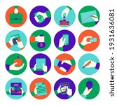 flat web icons   seo and... | Shutterstock .eps vector #1931636081