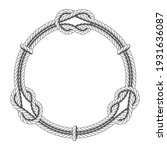 twisted rope circle   round... | Shutterstock .eps vector #1931636087