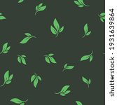 leaves seamless pattern. nature ... | Shutterstock .eps vector #1931639864