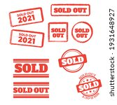 sold stamp pattern. sold out... | Shutterstock . vector #1931648927