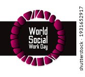 world social work day.... | Shutterstock .eps vector #1931652917