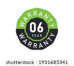 6 year warranty logo isolated... | Shutterstock .eps vector #1931685341