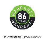 86 year warranty logo isolated... | Shutterstock .eps vector #1931685407