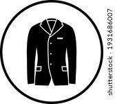 business suit icon. thin circle ... | Shutterstock .eps vector #1931686007