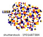 abstract bright colorful mosaic ... | Shutterstock .eps vector #1931687384