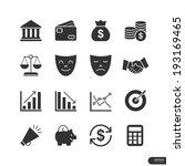 business   finance icons on... | Shutterstock .eps vector #193169465