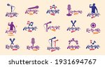karaoke logos and emblems... | Shutterstock .eps vector #1931694767