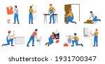 repairman. cartoon workmen... | Shutterstock .eps vector #1931700347