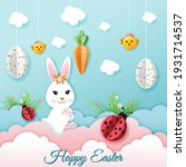happy easter greeting card with ... | Shutterstock .eps vector #1931714537