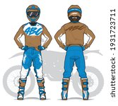 motocross uniform design set...   Shutterstock .eps vector #1931723711