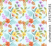 amazing seamless floral pattern ... | Shutterstock . vector #1931734181