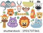 safari and zoo illustration.... | Shutterstock .eps vector #1931737361