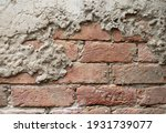 old grunge cracked wall... | Shutterstock . vector #1931739077