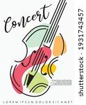 violin classical music concert... | Shutterstock .eps vector #1931743457