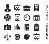 business   finance icons.... | Shutterstock . vector #193174727