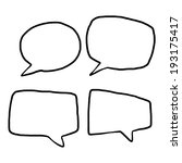 four style speech bubbles  ... | Shutterstock .eps vector #193175417