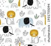 Seamless Safari Pattern With...