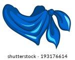 Illustration Of A Blue Scarf O...