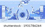 robot arm machines create huge... | Shutterstock .eps vector #1931786264