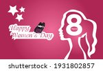 Happy Women Day Greeting Card...