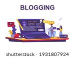blogging service web concept in ... | Shutterstock .eps vector #1931807924
