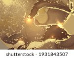 brown and fortuna gold abstract ...   Shutterstock .eps vector #1931843507