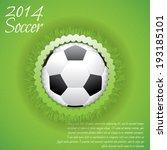illustration of a creative ball ... | Shutterstock .eps vector #193185101