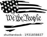 distressed tattered usa flag... | Shutterstock .eps vector #1931858837
