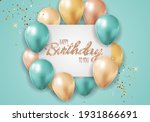 happy party birthday background ... | Shutterstock .eps vector #1931866691