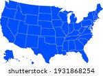 blue colored united states of... | Shutterstock .eps vector #1931868254