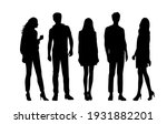 vector silhouettes of  men and... | Shutterstock .eps vector #1931882201