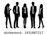 vector silhouettes of  men and... | Shutterstock .eps vector #1931887217